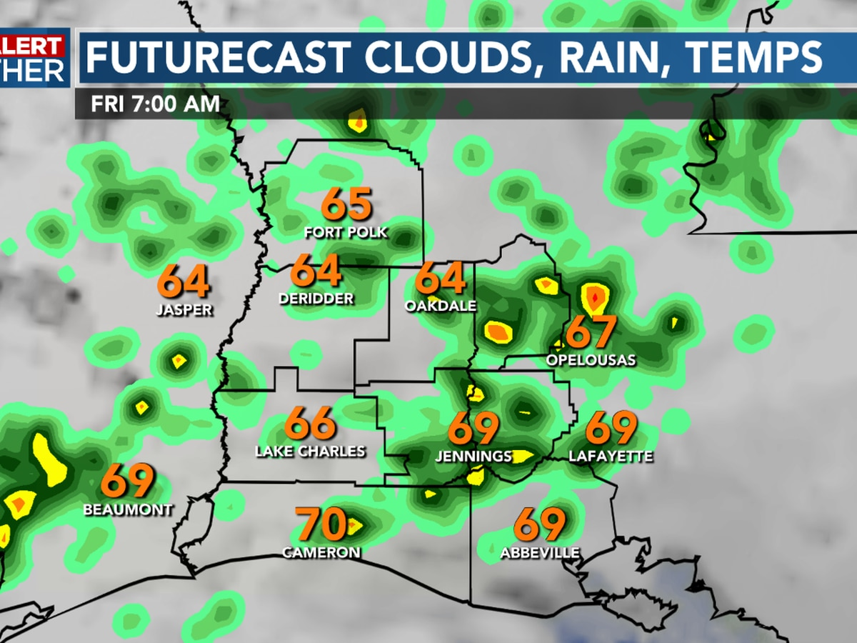 FIRST ALERT FORECAST: Scattered storms arrive overnight, a soggy weekend ahead
