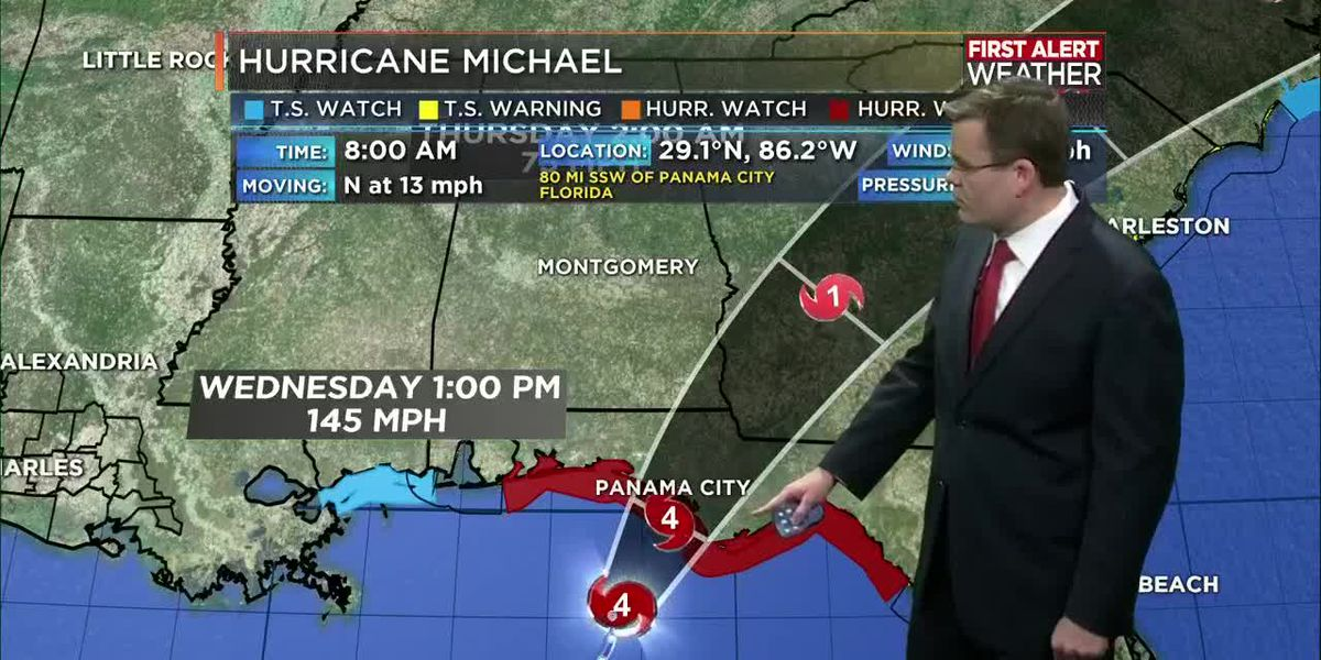 TROPICAL UPDATE: Hurricane Michael nearing a landfall today