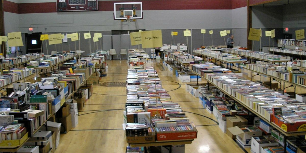 Huge three-day book sale starts Friday