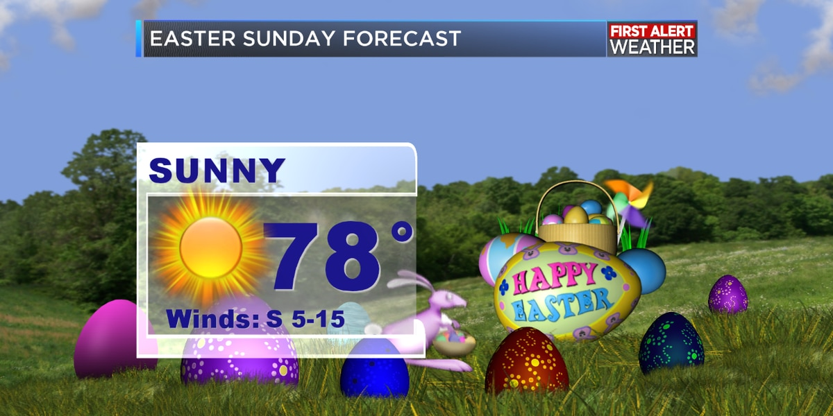 First Alert Forecast: Great weather for Easter; Rain chances increase next week