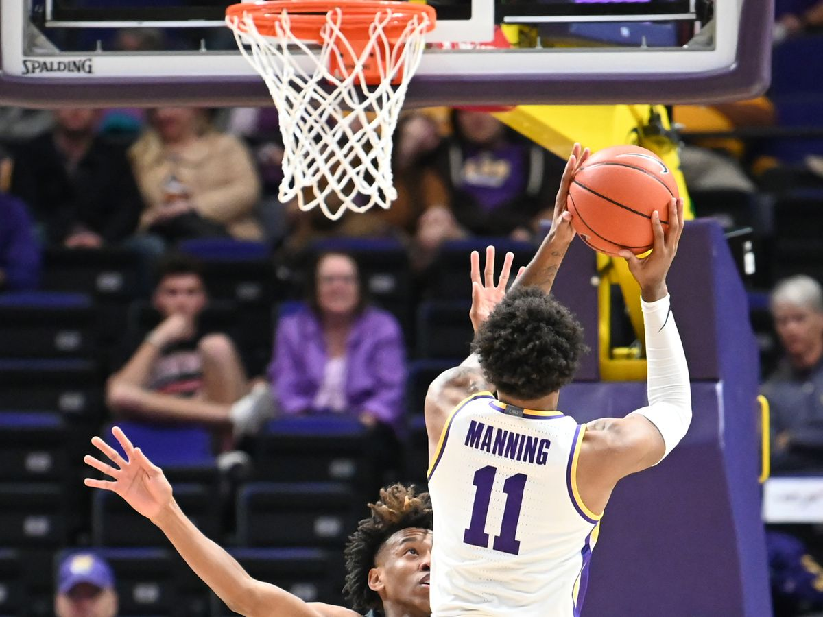 Manning comes off the bench to lead LSU to easy win over UMBC