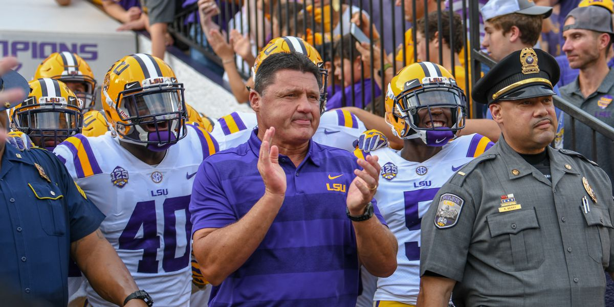 Kickoff times set for LSU's first 3 football games