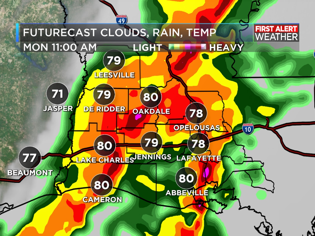FIRST ALERT FORECAST: A cold front to start the week bringing showers and storms