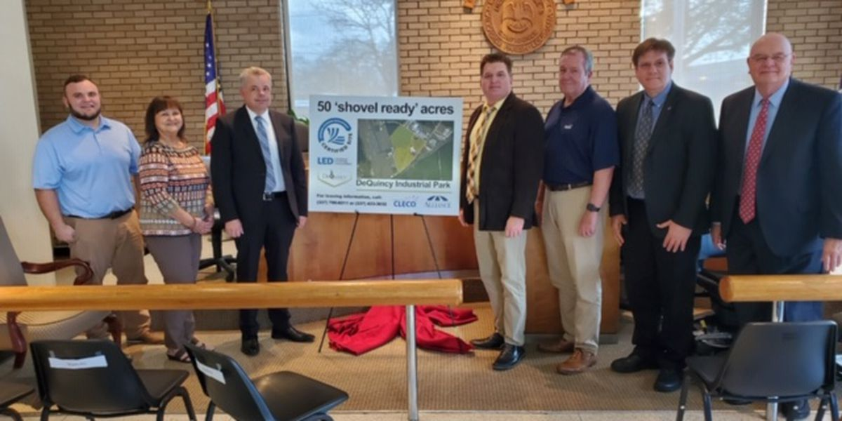DeQuincy Industrial Park gets shovel-ready certification