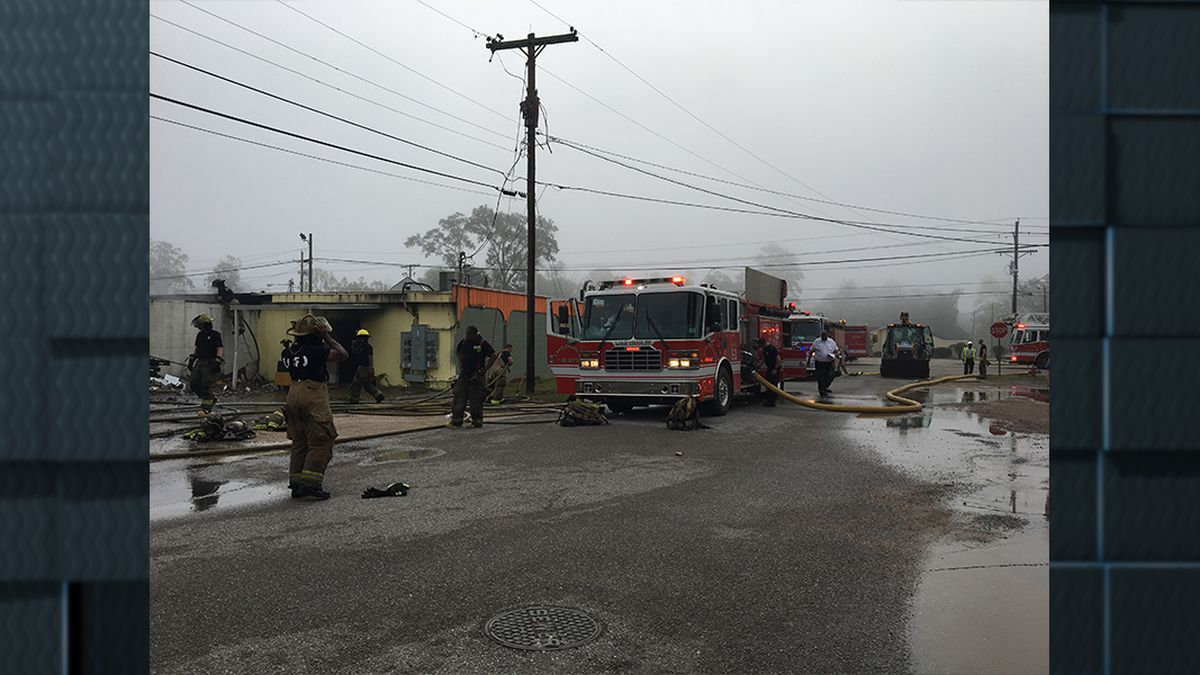 Lake Charles Fire Department responds to fire along Hwy 171