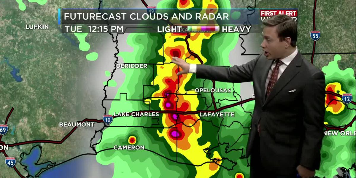 First Alert Forecast: More heavy storms Wednesday, then lower rain chances by the end of this week