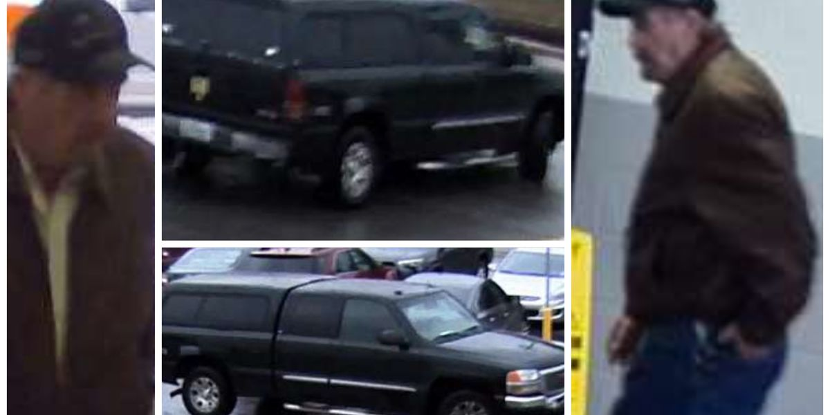 Sheriff's Office searching for man suspected of stealing license plate off vehicle