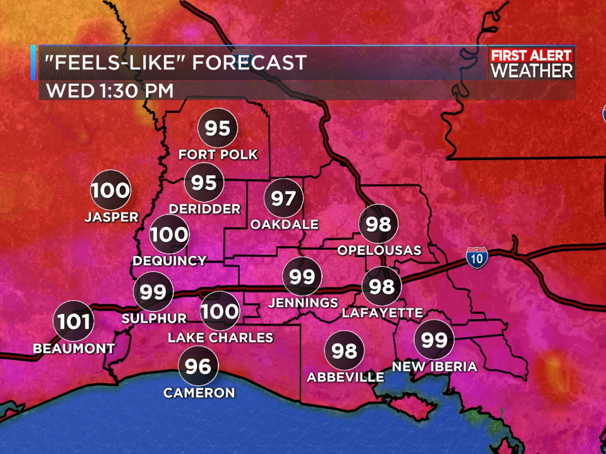 FIRST ALERT FORECAST: Lower rain chances drives up the heat today