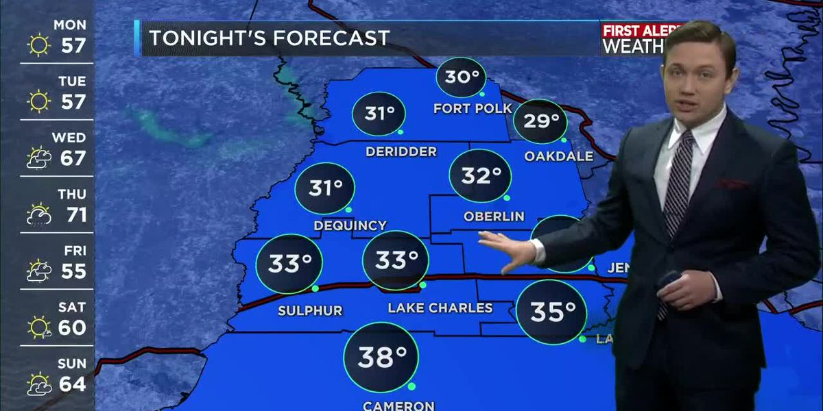 First Alert Forecast: Frost likely tonight, then another beautiful day on Tuesday
