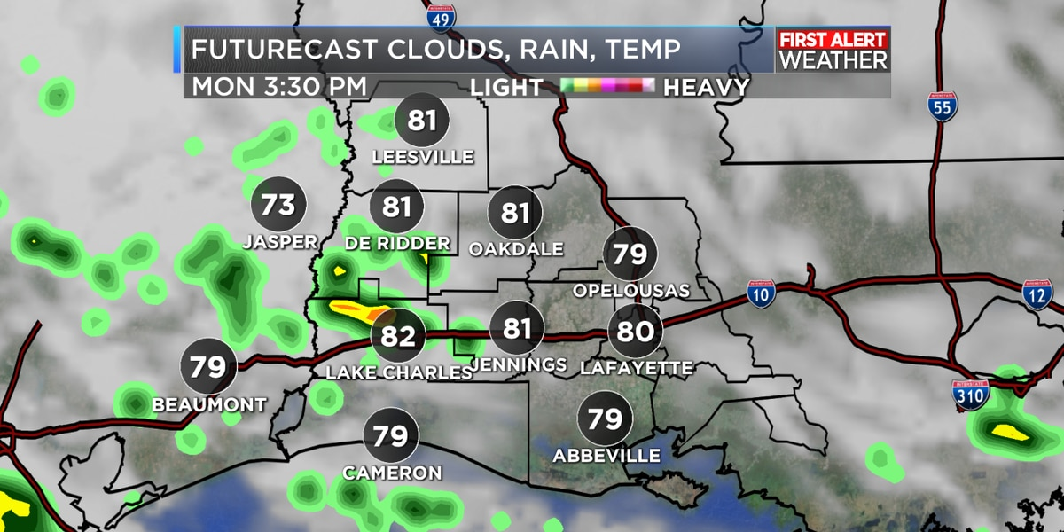 FIRST ALERT FORECAST: Rain chances increase as we head into your Monday