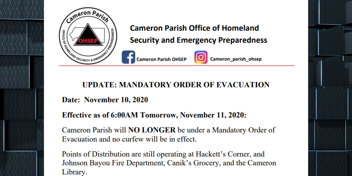 More than two months after Laura, evacuation order lifted in Cameron
