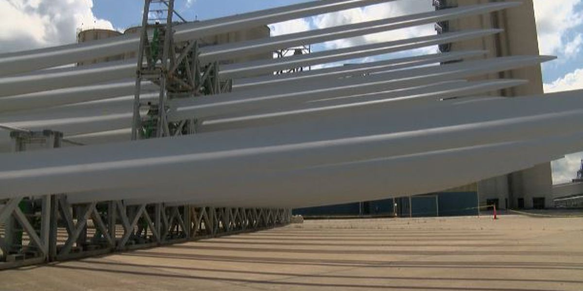 LC Port handling new cargo: Blades for wind turbines