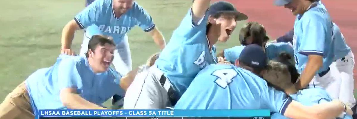 Barbe downs rival Sam Houston to win their 10th state championship in school history