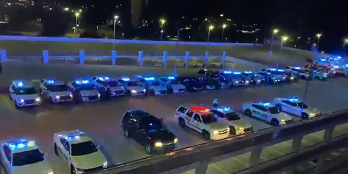 Baton Rouge community stands together to honor fallen officer, officer still recovering