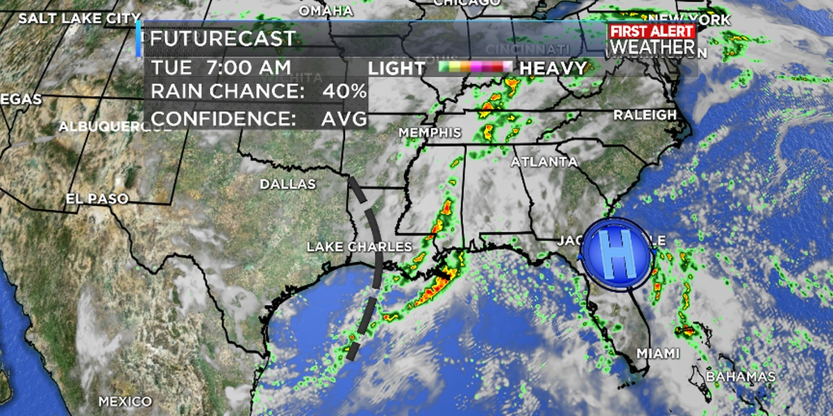 FIRST ALERT FORECAST: Rain chances decreasing through the week