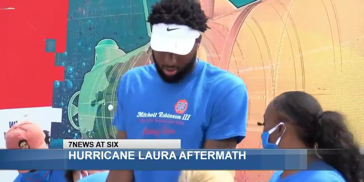 St. Bernard Gives Back and The Mitchell Robinson III Youth Foundation bring support to SWLA