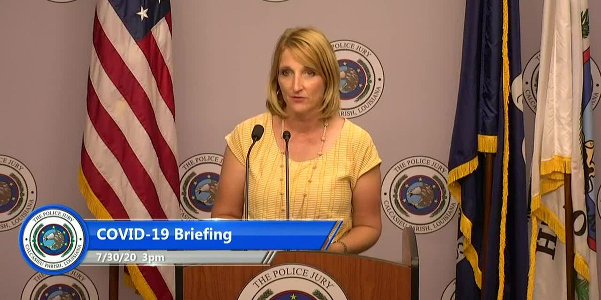 Calcasieu officials July 30 briefing on COVID-19 - Laurie Martin