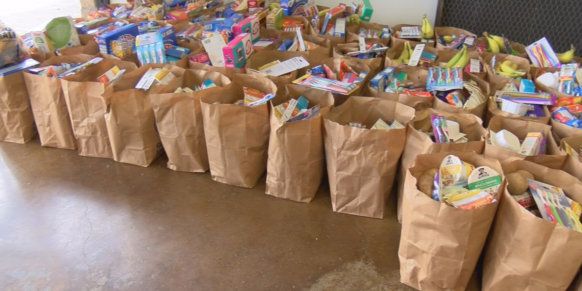 Water's Edge teams up with local businesses to offer free groceries at drive-thru food distribution