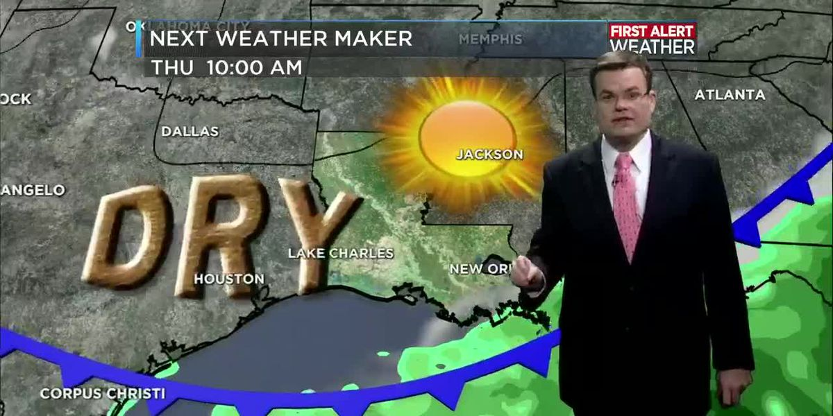 FIRST ALERT FORECAST: Front brings more rain but blocks Gulf from tropical mischief this week