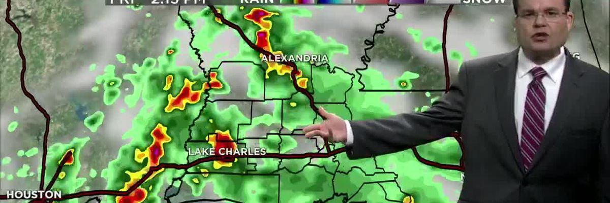 FIRST ALERT FORECAST: Tropical downpours increasing in coverage through the day and weekend ahead