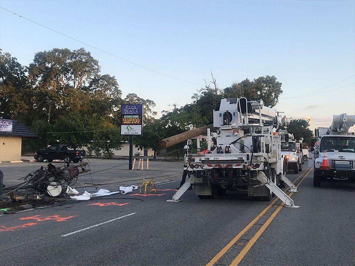 All lanes blocked on Ryan St. at W. Sallier St.