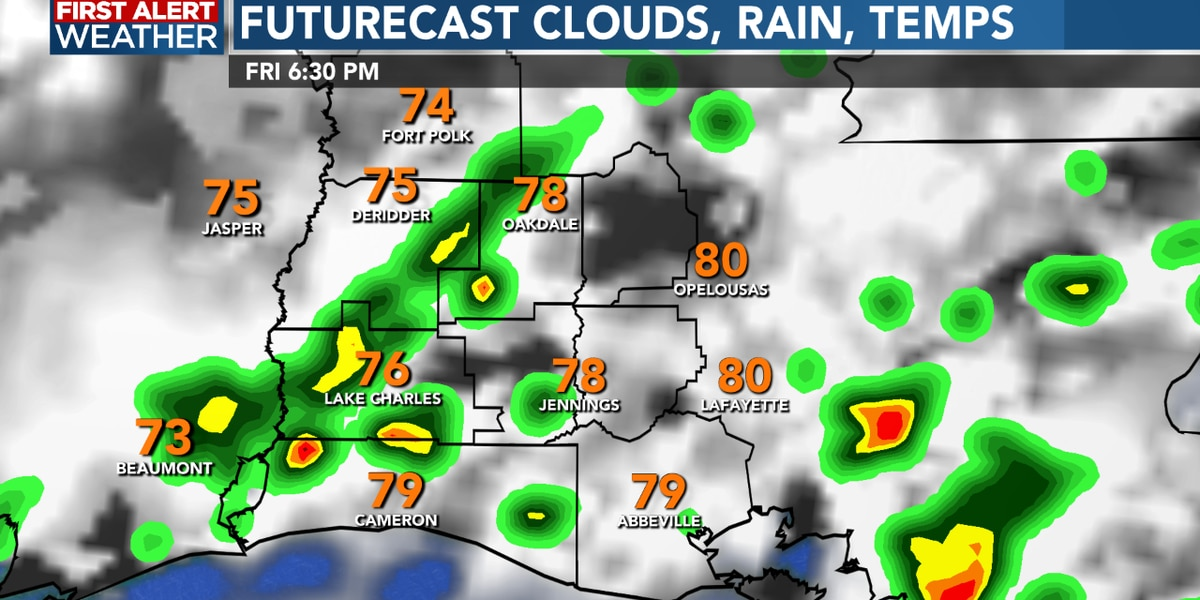 FIRST ALERT FORECAST: Scattered storms today with a slightly cooler but drier Saturday ahead