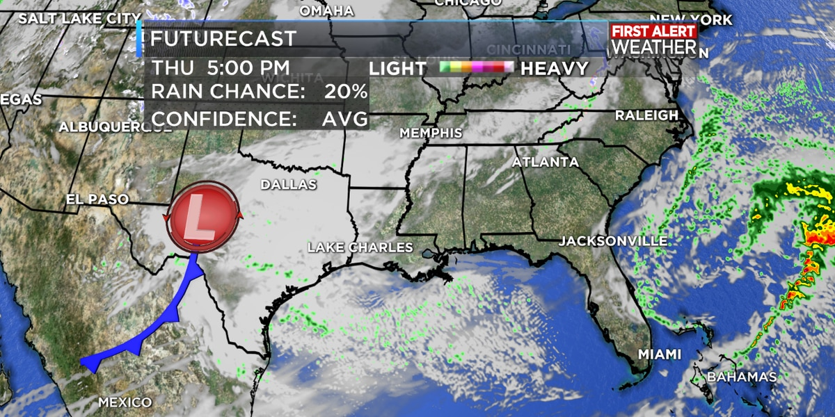 FIRST ALERT FORECAST: Rain ending tonight with a brief break for Wednesday, but don't put the umbrellas away…