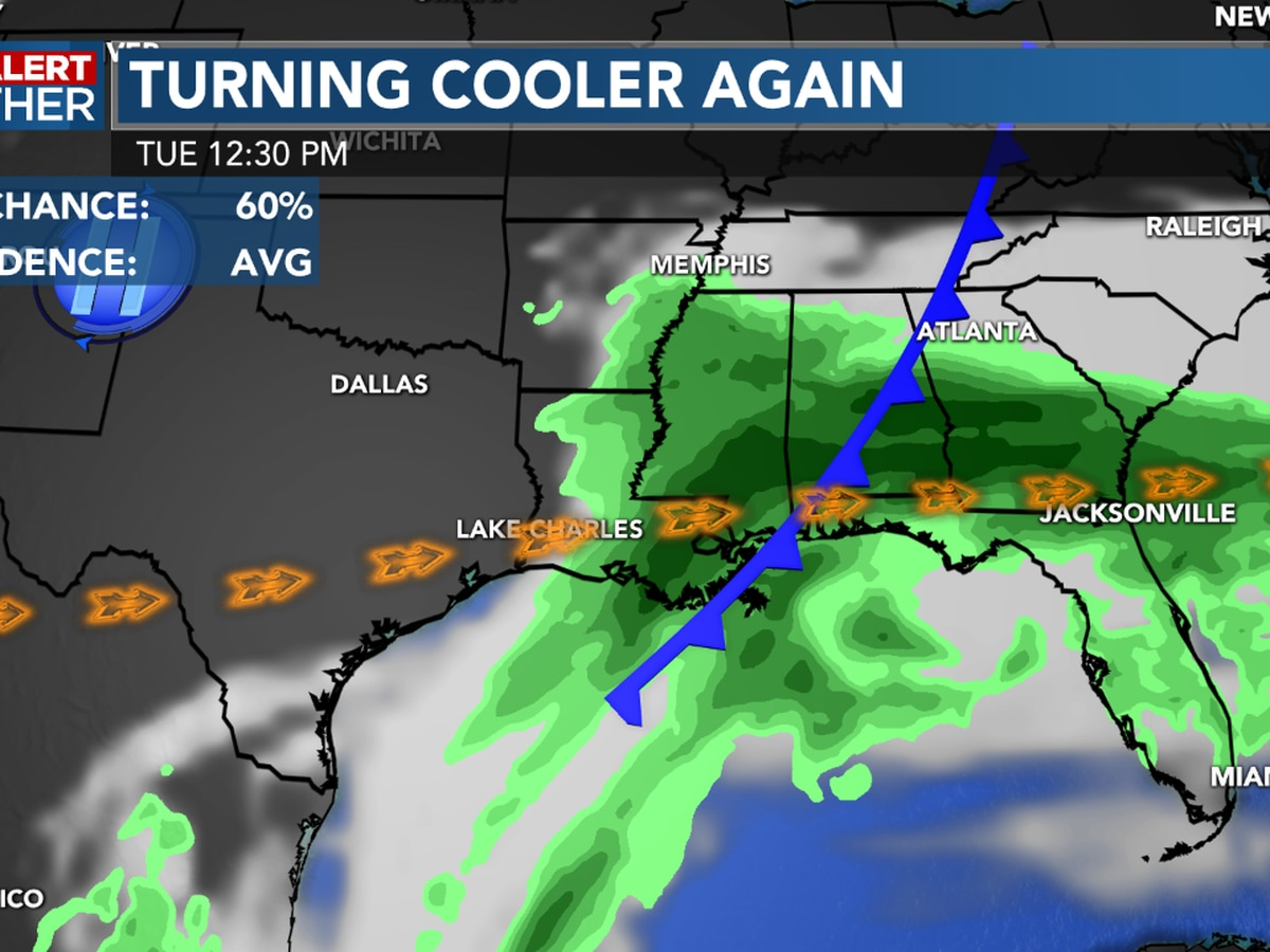 First Alert Forecast: Windy conditions likely through Tuesday along with cooler temperatures...