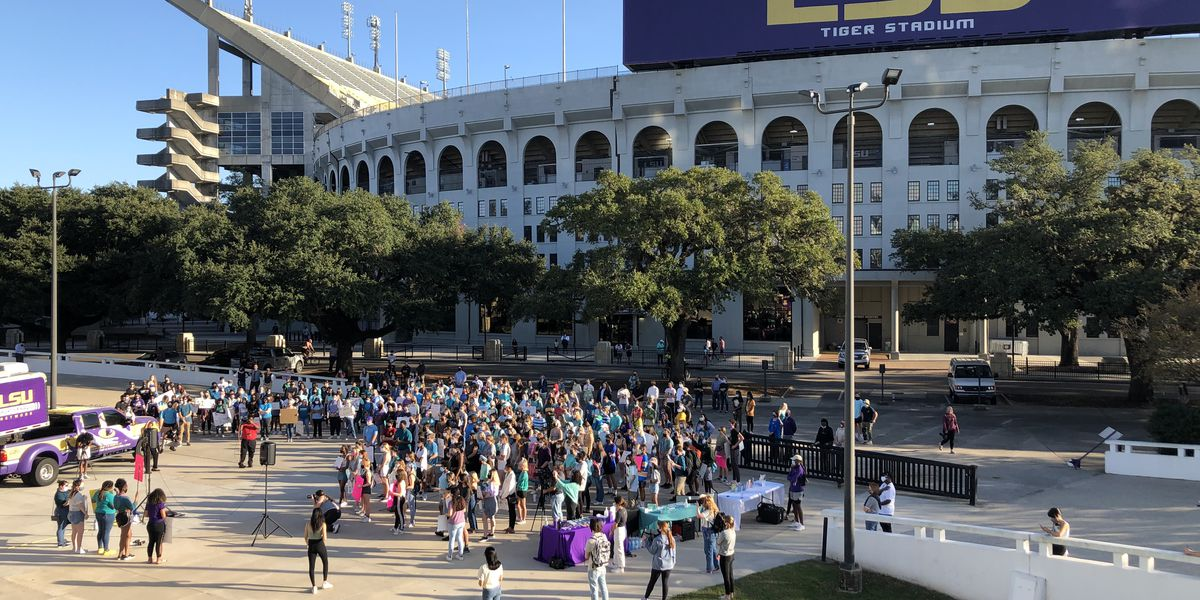 LSU students protest, call for action in light of sexual misconduct allegations