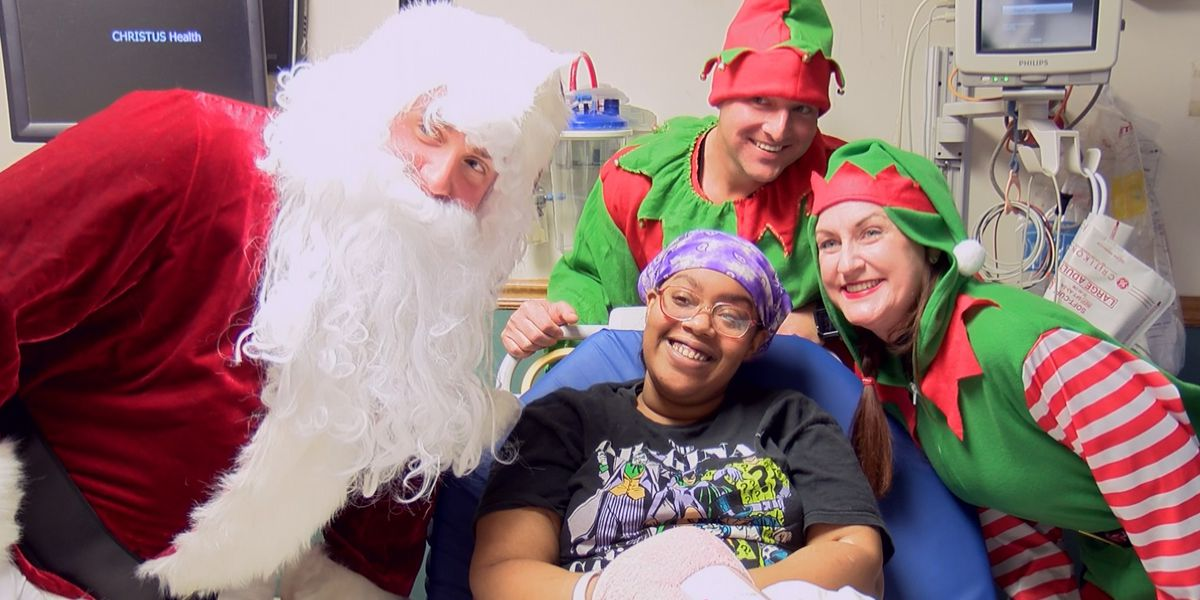 LSP Troop D & Santa bring Christmas to local hospital patients