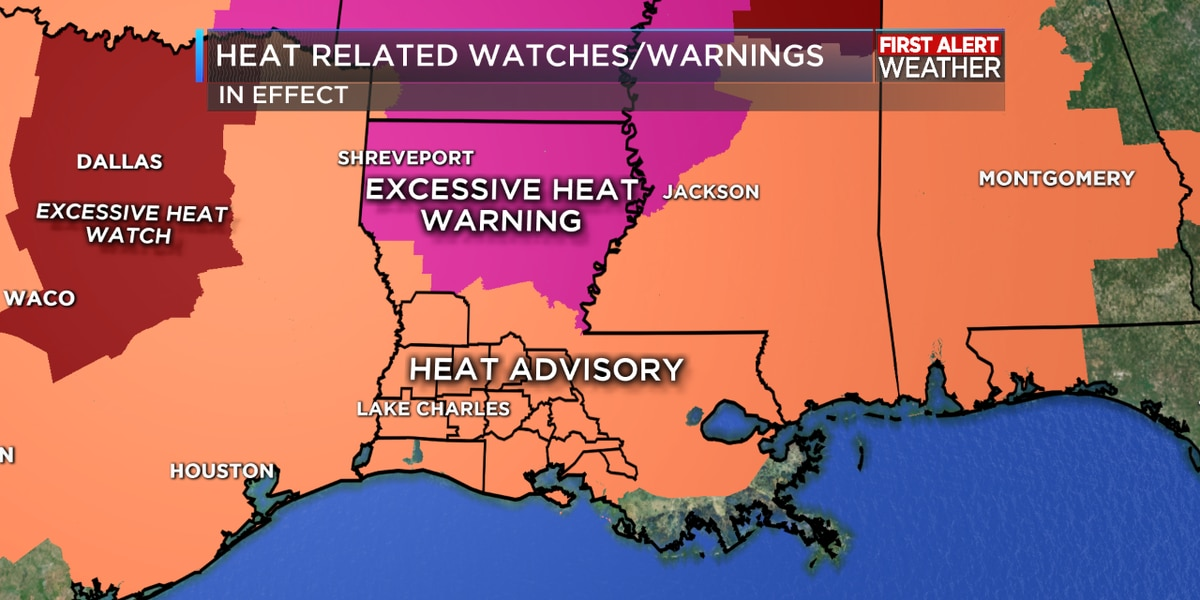 FIRST ALERT FORECAST: Extreme heat continues but a front breaks the swelter by mid-week