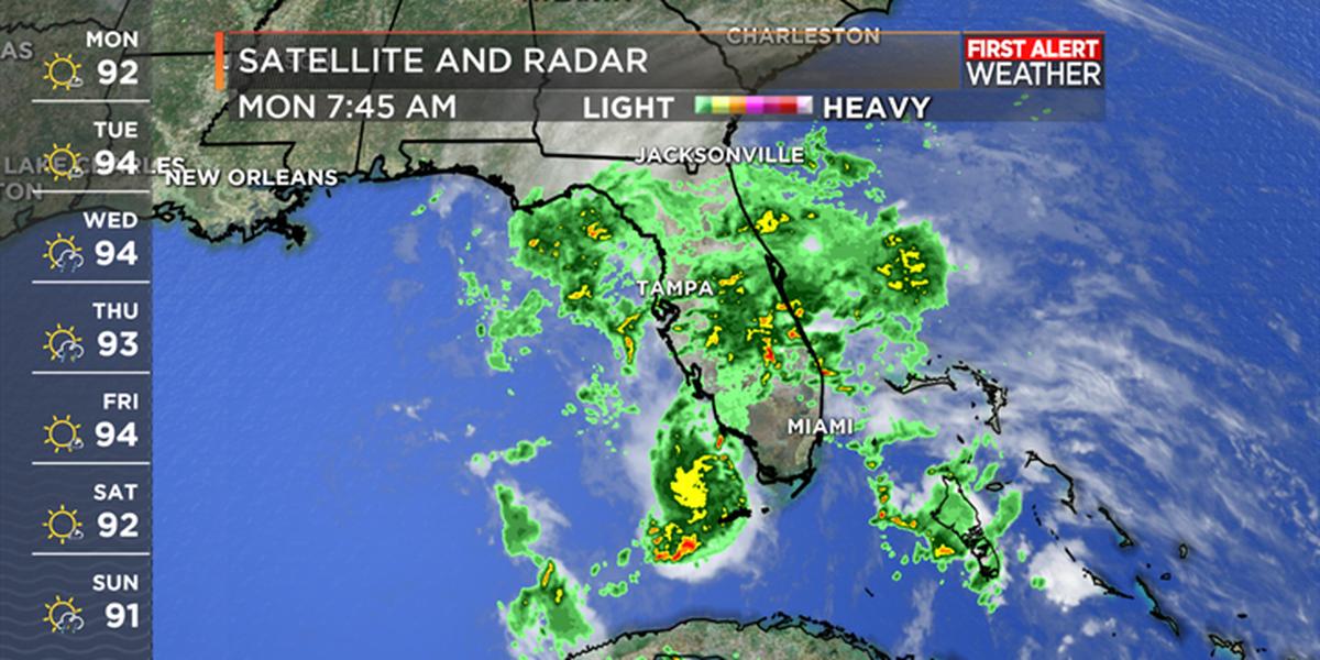 NHC monitoring Gulf disturbance; heavy rain threat to Florida