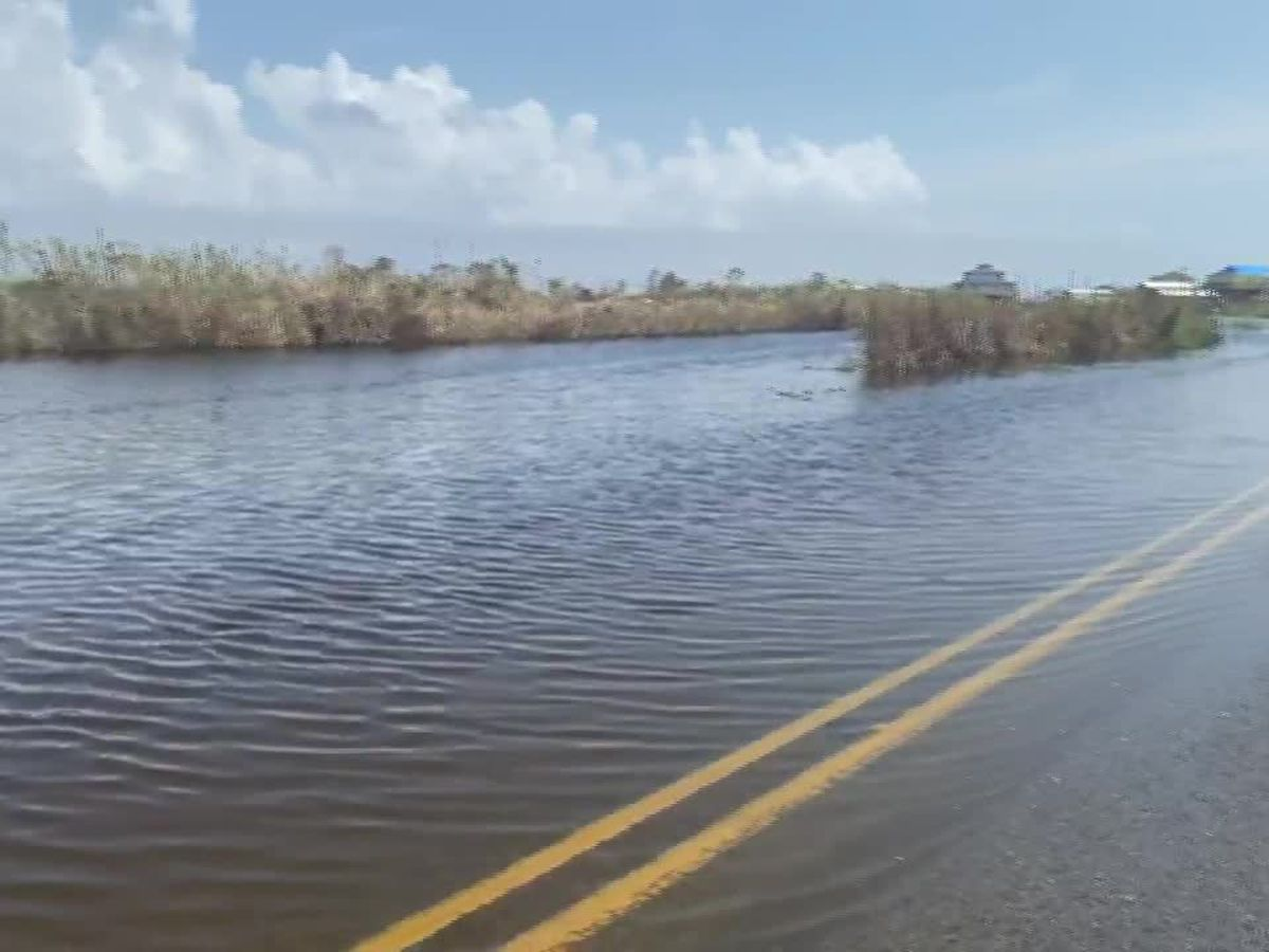 Flooding concerns in Cameron Parish due to Tropical Depression Beta