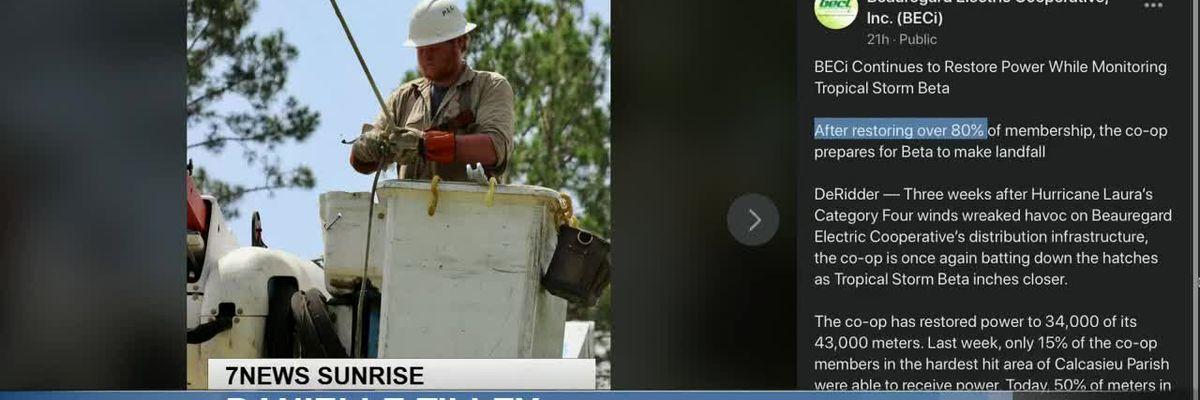Sunrise Interview: SWLA utility restoration update - Sept. 23, 2020