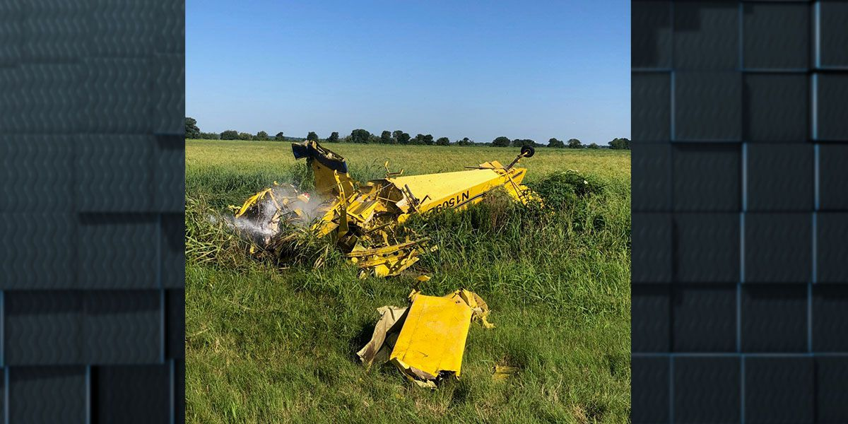 Crop duster crashes south of Welsh