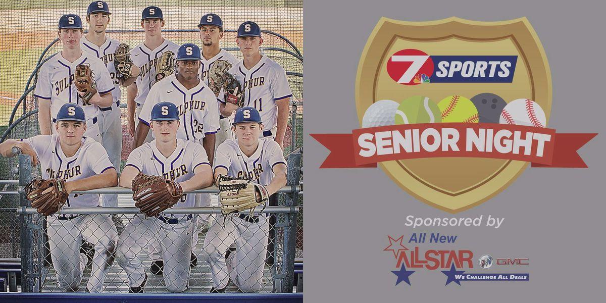 SENIOR NIGHT: Sulphur baseball senior class