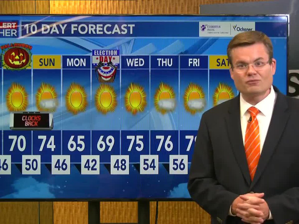 FIRST ALERT FORECAST: Wonderful weather through the Halloween weekend; chilly through Election Day