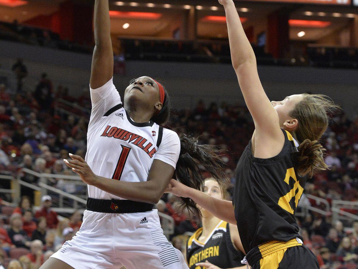 Evans leads No. 4 Louisville women over Northern Kentucky