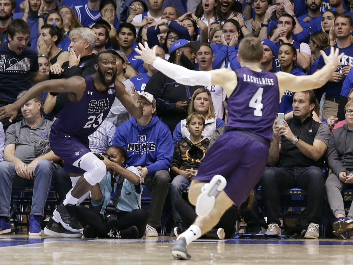 Stephen F. Austin stuns No. 1 Duke, 85-83 in OT