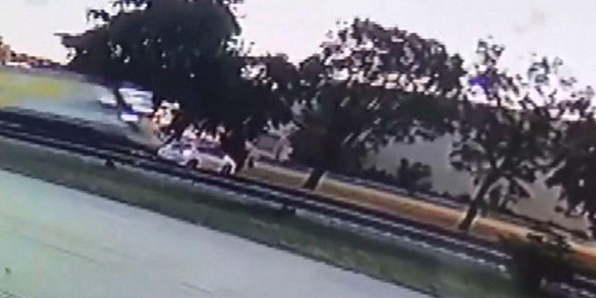 VIDEO: Woman escapes before train hits, destroys car
