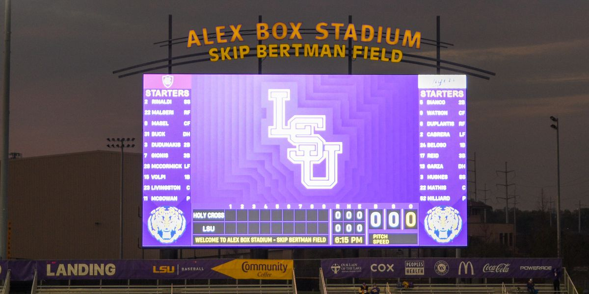 LSU baseball Game 1 vs. Kentucky rained out