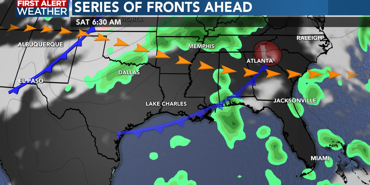 FIRST ALERT FORECAST: A beautiful Sunday afternoon, rain chances increase as we head into Tuesday