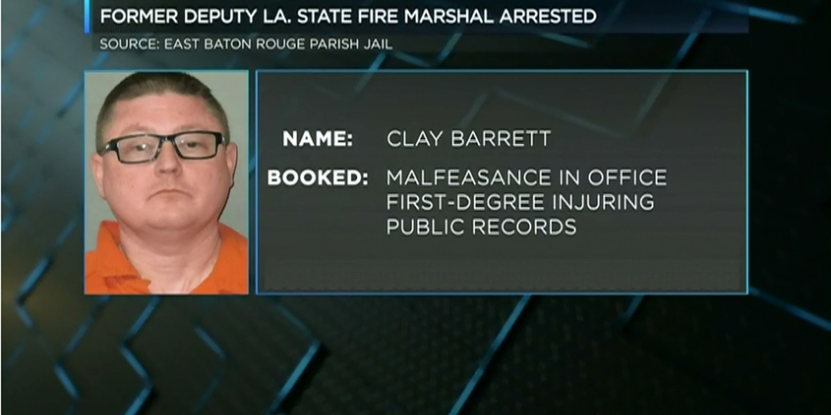 Deputy State Fire Marshal from LC arrested for malfeasance and injuring public records
