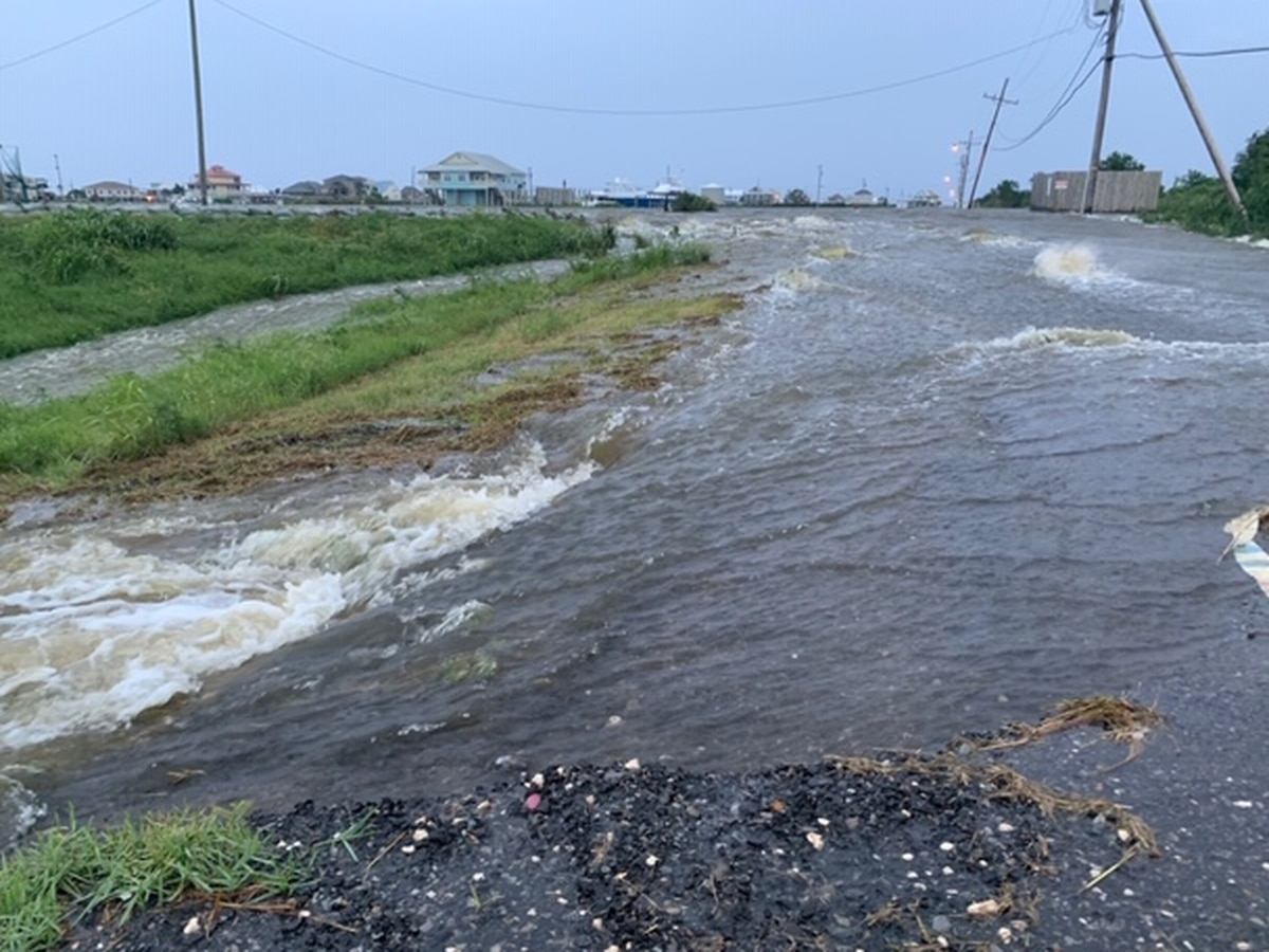 Levees overtopped in areas of Plaquemines Parish