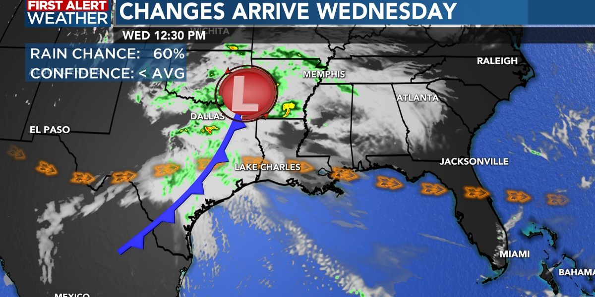FIRST ALERT FORECAST: Another storm system will arrive later this week