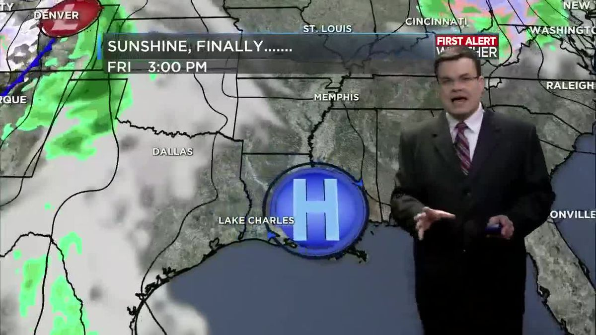 FIRST ALERT FORECAST: More sunshine today; even more through the rest of the week!
