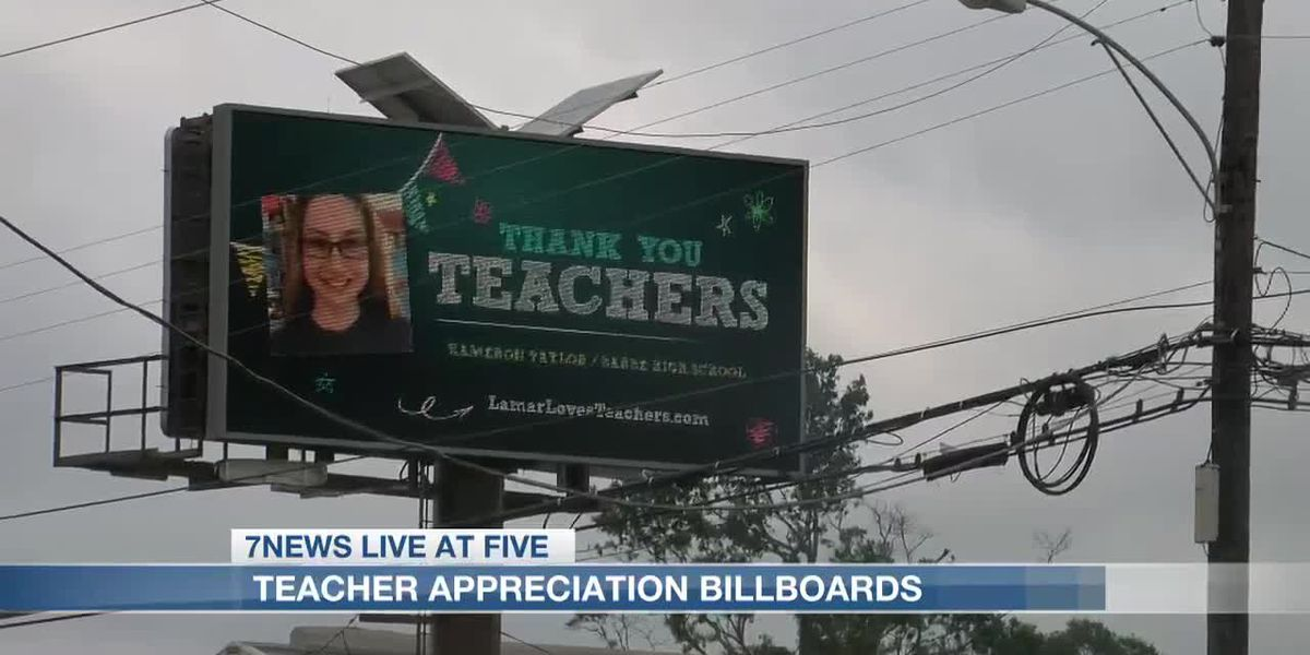 Teacher Appreciation billboards in the Lake Area