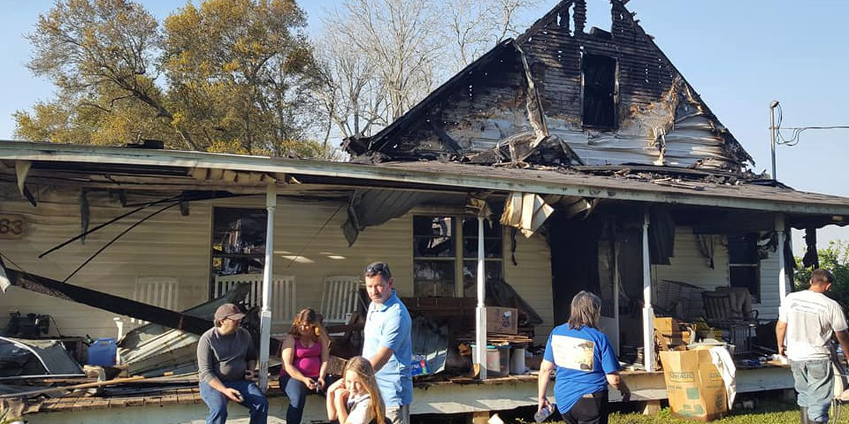 Over 100 year old house burns down in Cameron Parish