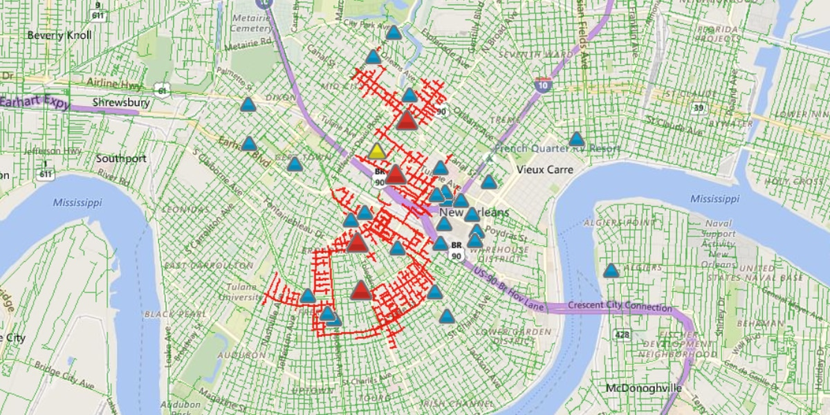 Cat causes power outage for thousands of Entergy customers