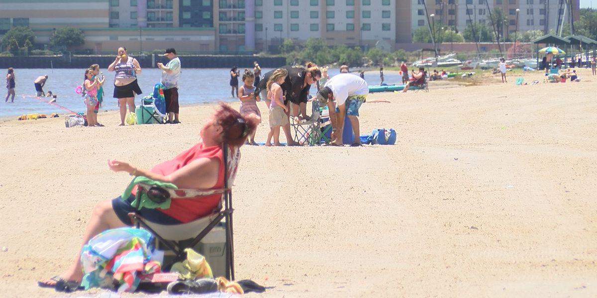 Social distancing and safety concerns at I-10 Beach